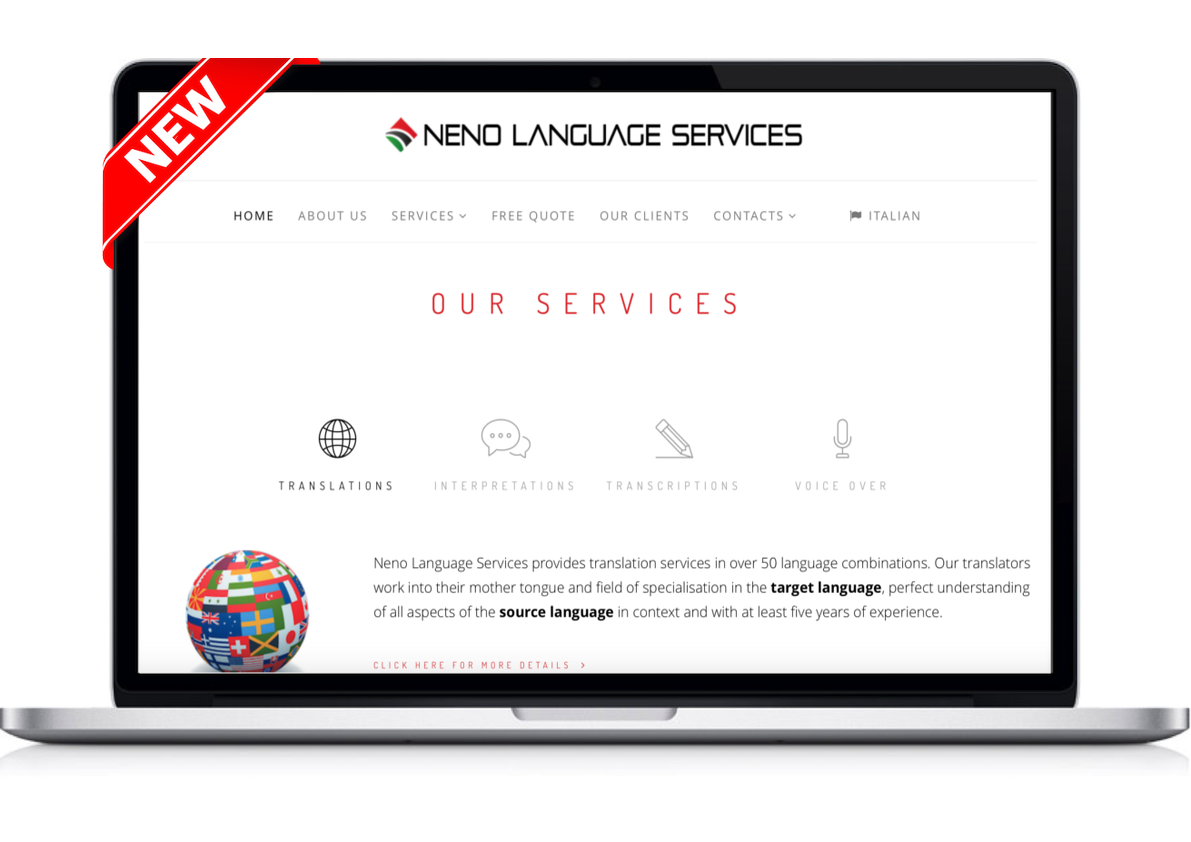 NENO LANGUAGE SERVICES WELCOMES YOU TO ITS NEW WEBSITE!